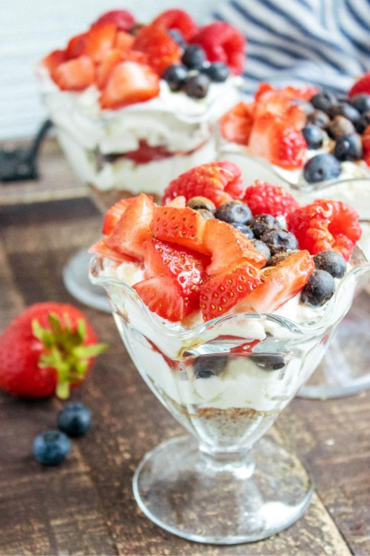 Greek Yogurt Berry Cheesecake Parfaits
