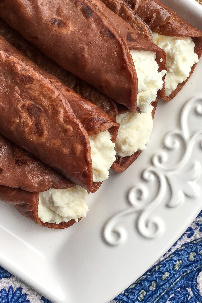 Tuscan Chestnut Crepes with Ricotta & Honey (Necci)
