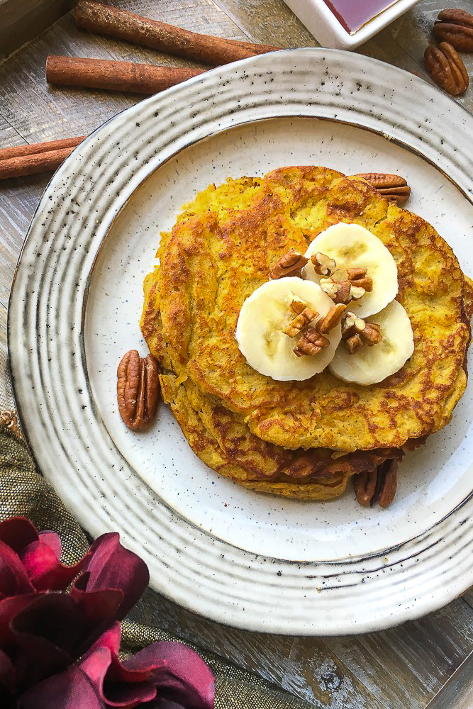 Look to these Keto Pumpkin Spice Pancakes for a delicious autumn breakfast that is full of flavour, light and fluffy. These work great for a Paleo diets too!