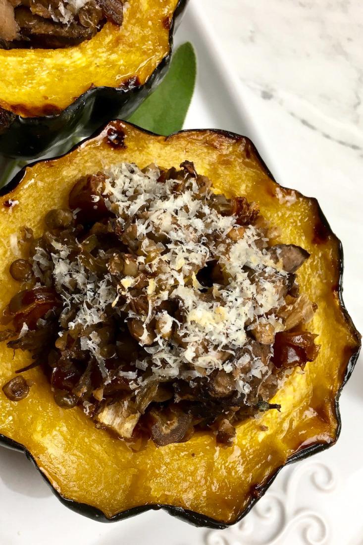 Portobello & Sage Stuffed Acorn Squash