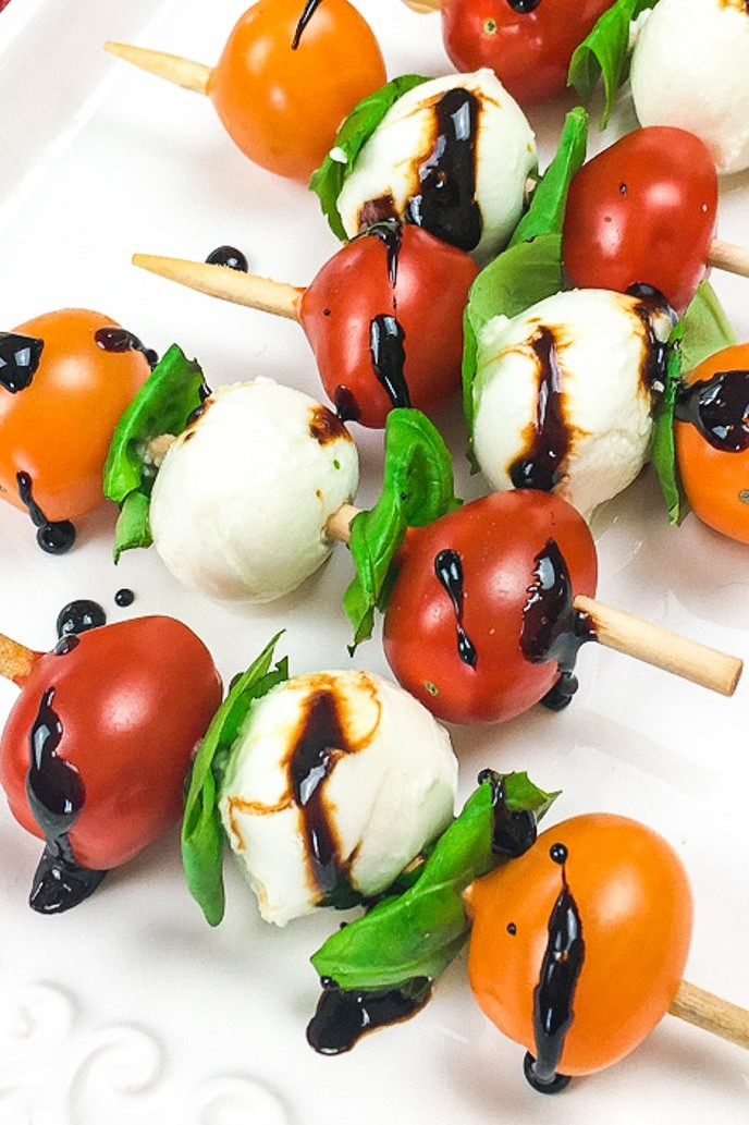 Caprese Skewers with a Balsamic Glaze