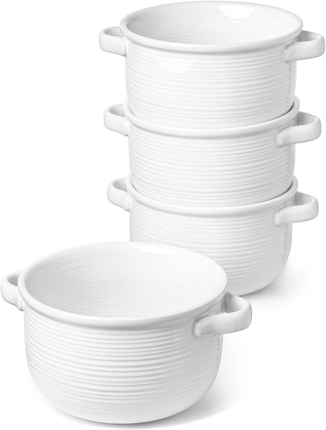 Soup Bowls With Handles, Set of 4