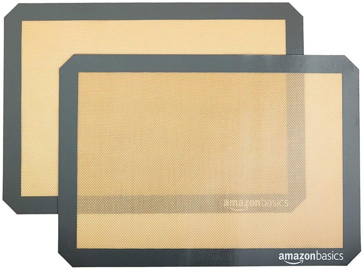 Amazon Basics Silicone, Non-Stick, Food Safe Baking Mat