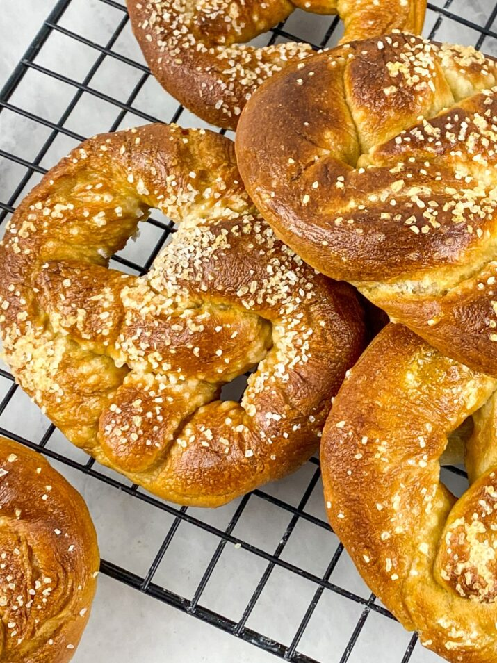 Make homemade soft pretzels with just a few simple ingredients! You will love the salty, chewy exterior with an incredibly soft inside.