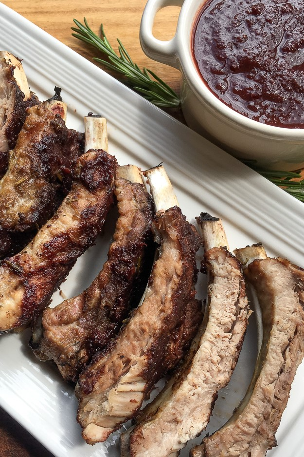 This flavourful Homemade Dark Cherry BBQ sauce combines the natural sweetness of cherries with the warmth of ginger, cinnamon, & rosemary.