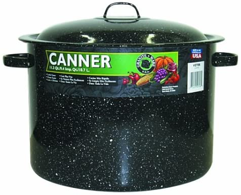 Granite Ware Covered Preserving Canner with Rack
