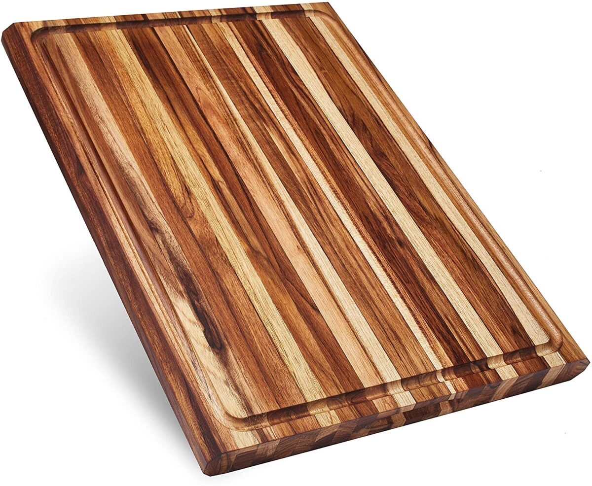 Thick Teak Wood Cutting Board with Juice Groove