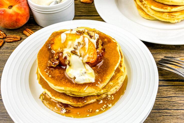 Peaches & Cream Buttermilk Pancakes