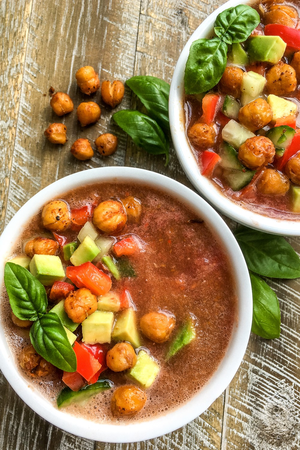 A healthy gazpacho recipe that's naturally gluten free, keto friendly, and vegan. It's perfect for hot summer days!
