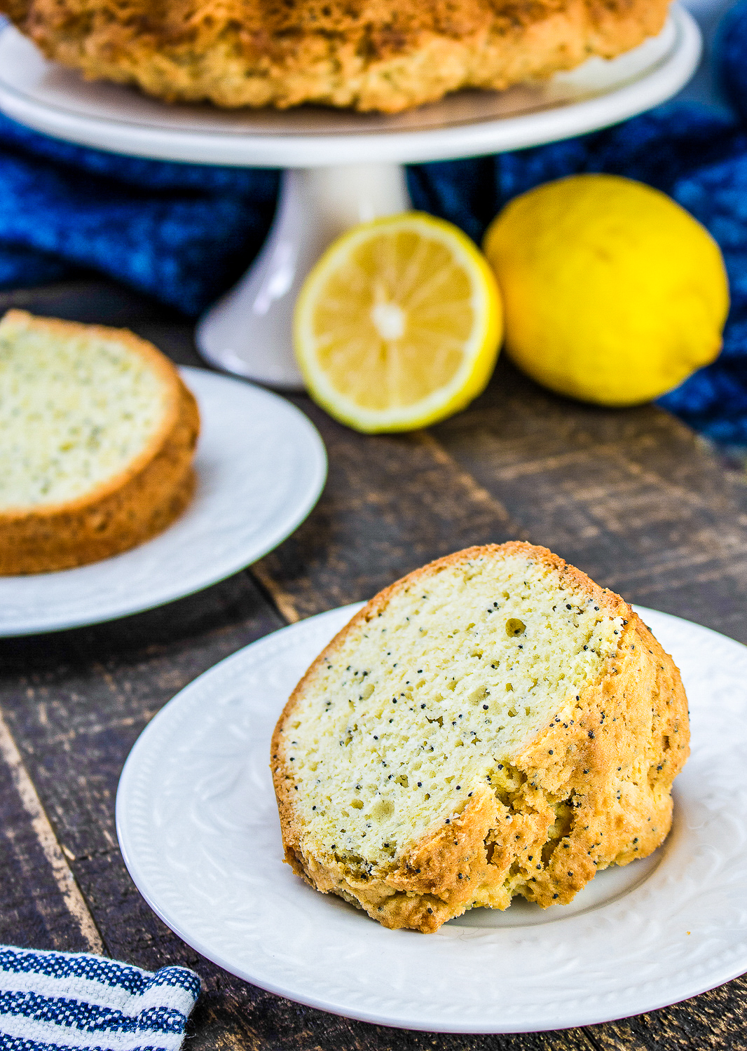 This easy lemon poppy seed bundt cake is the perfect dessert to make for a crowd. It's sweet and tangy and sure to be a hit!