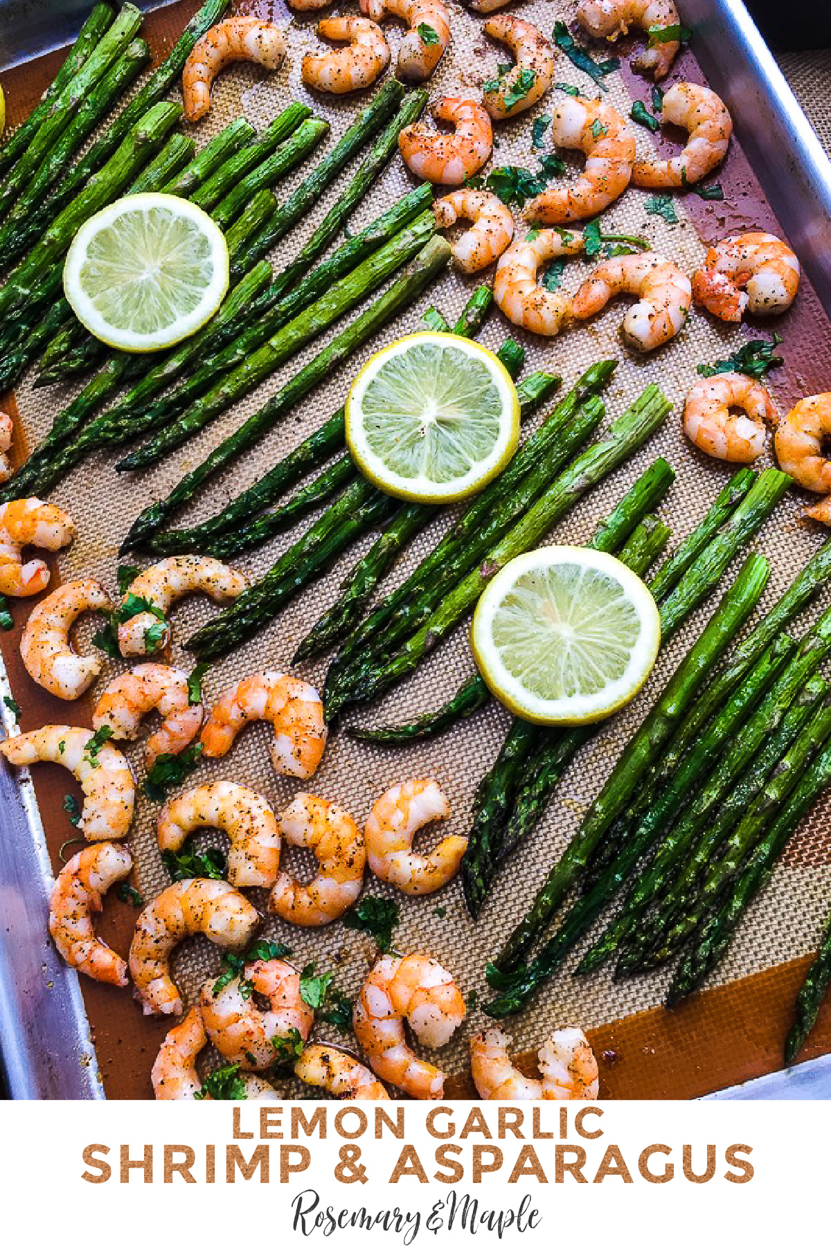 This Lemon-Garlic Shrimp & Asparagus is a one pan meal that is quick, easy, tasty and healthy! A great way to get some veggies in your diet.